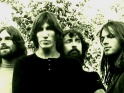 Pink Floyd, jedni z dinosaur, zleva Rick Wright, Roger Waters, Nick Mason a David Gilmour, cca 1.pol.70.let